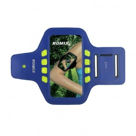 Brassard smartphone ROMIX Bleu L
