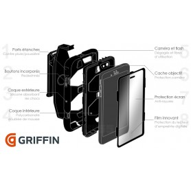 Coque Survivor All-Terrain Military - Griffin - Noir pour Apple iPad Mini