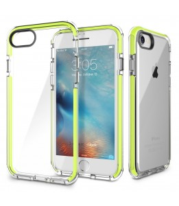 Coque iPhone 7/8 ROCK dos transparent vert Guard Serie