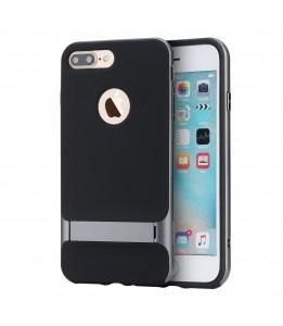 Coque iPhone 7 Plus / 8 Plus ROCK contour bumper gris Royce with kick stand