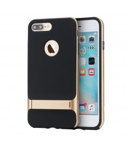 Coque iPhone 7 Plus / 8 Plus ROCK contour bumper Or Royce with kick stand