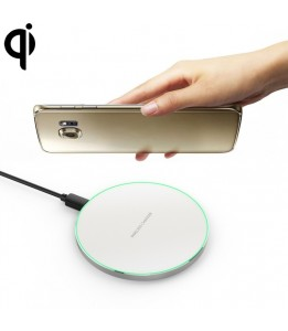Socle de charge  Qi Wireless Charger Aluminium Blanc