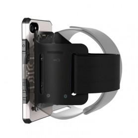 Coque Pour iPhone 8 & 7 multi-fonction brassard, détachable et aimant, Special coque Uber Eat / Delivroo (Silver)