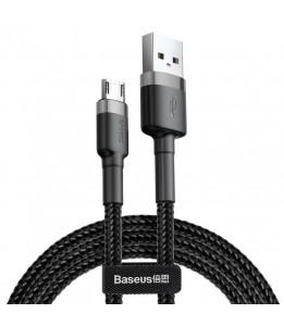 Câble de charge robuste Micro Cafule 2A Baseus, longueur: 1 m Noir