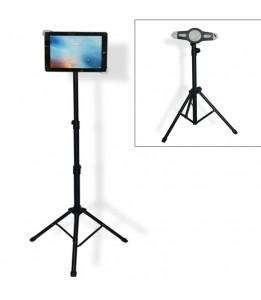 Trépied pour tablette de 7 à 14 pouces hauteur 120cm support pour iPad, Kindle, Samsung, Lenovo...