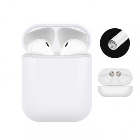 Air Pod Bluetooth Headset 5.0 ecouteur Bluetooth tactile avec main libre stéréo (Blanc)