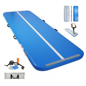 Tapis de Gymnastique Gonflable Gym Exercice Tumbling Airtrack 400×100×10cm